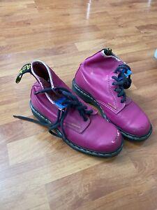 Dr. Martens Ladies 6 US (Purple/Violet 8-eye AirWair Ankle Booties 1460W Vintage
