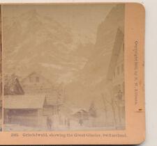 Grindelwald showing the great glacier Switzerland Kilburn Stereoview 1902
