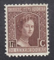 Luxembourg 1917  - Duchess  Adelaide 17½c Brown - SG176a - Mint Hinged (D24C)