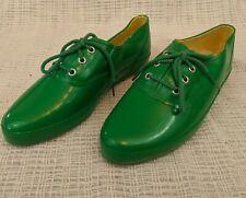 Vintage Esprit Green Rubber / Vinyl Womens Shoes sz 7