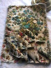 6 vintage harvest upholstery samples fabric crafts - 6 colorways