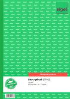 """sigel Formularbuch sd 063  """"Bautagebuch"""" A4 3 x 40 Blatt SD"""