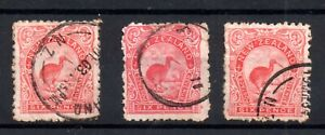New Zealand 1902 6d Kiwi & 3 different fine used WS21259