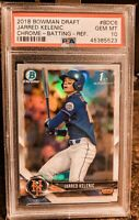 2018 Bowman Chrome Draft Batting REFRACTOR, Jarred Kelenic ROOKIE, PSA 10 GEM MT
