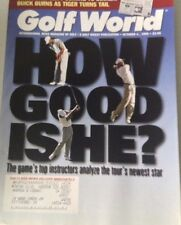 Golf World Magazine Tiger Woods How Good Is He October 4, 1996 072417nonrh