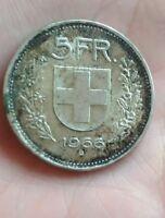 Suisse - 5 francs 1966 B  argent