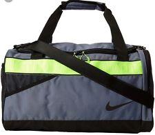 New Nike Travel/Gym Bag  BA4732 470 Gray/Black/Volt