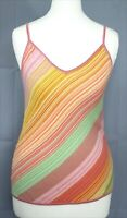 ESCADA Womens Pastel Multicolour Striped Knitted Summer Camisole Vest Top 36 10