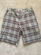 NWT Works By Ron Chereskin Brown Plaid Cotton Shorts Mens Size 38