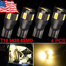 4PCS T10 High Power 5630 Warm White LED Reverse Backup Interior Light Bulbs