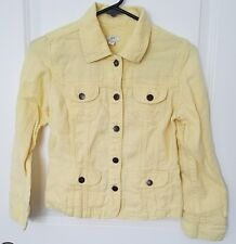 J.Jill Women's Yellow Button Up Jacket Size XSP Petite Coat