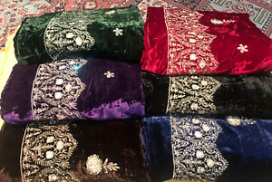 Unstitched Velvet palachi shalwar kameez Deigner suits / Winter suit