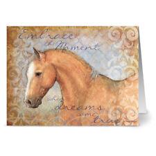 24 Note Cards - Light Brown Horse - Kraft Envs