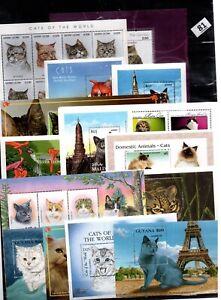 BL 30 S/S - MNH - MIX - NATURE - PETS - ANIMALS - CATS - WHOLESALE