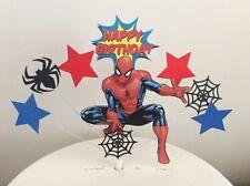 Superhero Spider man Birthday cake topper in pick, spiderman(unofficial)