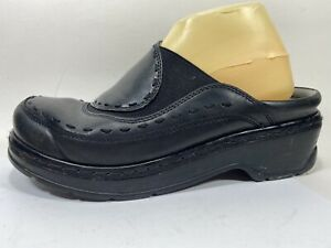 Klogs Leather Slip On Clogs Womens 11 M