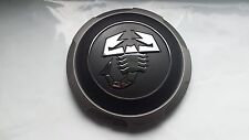 4 x New GENUINE Fiat 500 Abarth Alloy Wheel Centre Cap Cover Grey and Chrome !