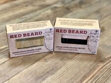 "Beard Brush and Comb Set for Men Grooming from ""Red Beard"" - NEW"