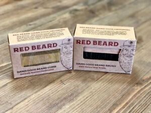 """Beard Brush and Comb Set for Men Grooming from """"Red Beard"""" - NEW"""
