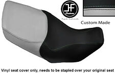 LIGHT GREY BLACK VINYL CUSTOM FOR HONDA XL 1000 V VARADERO 99-07 DUAL SEAT COVER