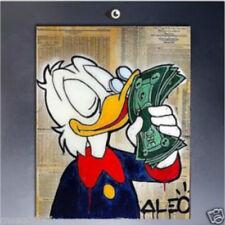 Handcraft Portrait oil painting on canvas Alec monopoly Donald money no frame