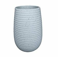 Ribbed Stone Effect Ceramic Tumbler/Toothbrush Holder
