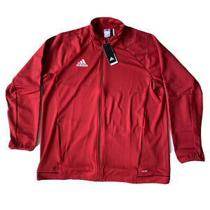 Adidas Tiro 17 Red White Training Jacket BQ8196 Mens Size 2XL Full Zip