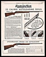 1949 REMINGTON Model 550 and 241 .22 Autoloading Rifle PRINT AD Gun Advertising
