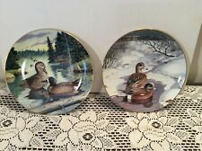 Knowles Collector Plates American Wigean & Bue-Winged Teal Bart Jerner