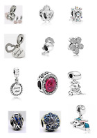 New Authentic Genuine PANDORA Charms S925 ALE Sterling Silver Free Pouch