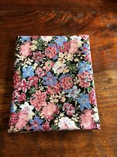 Fat Quarter Black Blue Pink Green Floral Cotton Quilting Fabric