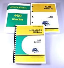 SERVICE OPERATORS PARTS MANUAL SET JOHN DEERE 4400 COMBINE REPAIR SHOP BOOK OVHL