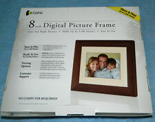"GiiNii Brand- 8"" Digital Picture Frame up to 3200 Pics / Calendar / Clock"