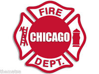 "CFD CHICAGO FIRE DEPARTMENT MALTESE 4"" HELMET STICKER DECAL MADE IN USA"