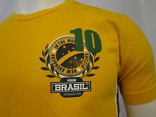 FORUM BRASIL WORLD CUP 2006 GRAPHIC CREW NECK T-SHIRT SIZE MEDIUM​ YELLOW