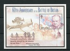 Turks & Caicos 2000 MNH WWII Battle of Britain 60th 1v S/S I Churchill Stamps
