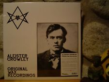 ALEISTER CROWLEY Original Wax Recordings LP/Rare Recordings/Current 93/Ltd.500