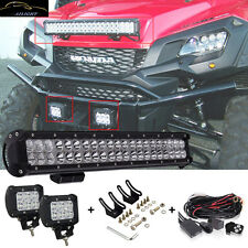 "20"" Led Light Bar + 2x Fog Work Driving Lamp For Honda Pioneer 1000 700 UTV ATV"