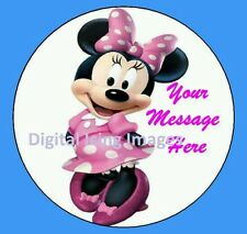 Cake topper edible image icing Minnie mouse REAL FONDANT