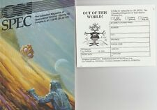 ON SPEC THE CANADIAN MAGAZINE OF SPECULATIVE WRITING SPRING 1992 VOLUME 4, #1 NF