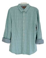 NWT Men's 7 for all Mankind Turquoise Long Sleeve Shirt Size L