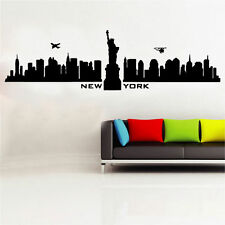 New York Skyline Decal Vinyl Wall Sticker Art World Country Silhouette