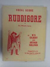 VOCAL SCORE rudigore Gilbert + Sullivan