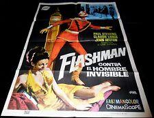 1967 Flashman ORIGINAL SPAIN POSTER Italian Retro SuperHero DIABOLIK Kriminal