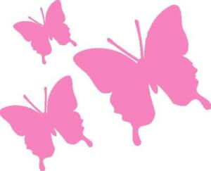 24 Butterfly Room/Wall/Car Vinyl Stickers PINK