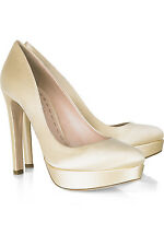 ~CLASSY~ $595 NEW MIU MIU by PRADA 40 9.5 BRIDAL WEDDING PLATFORM  PUMPS SHOES