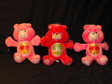 "Lot of 3 Vintage 13"" Environmental Care Bear Plush Dolls Love A Lot & Friend"