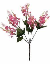 5 Lilacs Flowers Pink Mauve Silk Wedding Flowers Bouquet Centerpieces