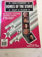 Vintage Hollywood Homes Of The Stars Map & Guide See Description 1993