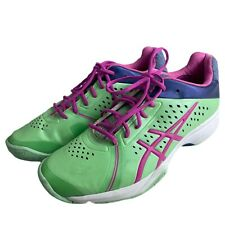 ASICS GEL COURT BELLA Sneakers Women's Green Pink E655Y Size 10 Tennis Shoes